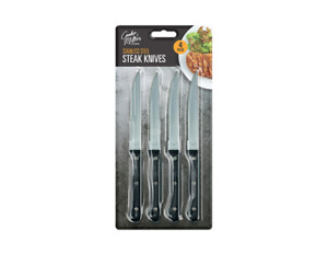 Steak Knives Set Of 4, Special Stainless Steel, Table Knife, Kitchen Cutlery