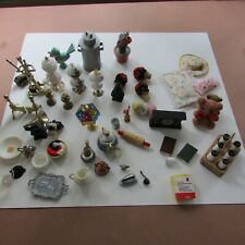 50 + Doll house a vintage treasure items for bedroom, kitchen