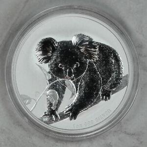 2010 UNCIRCULATED AUSTRALIAN KOALA, 1oz 0.999 FINE SILVER
