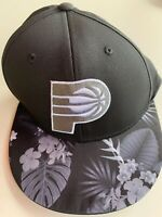 Indiana Pacers Flowers L/XL Adidas NBA Structured Adjustable Cap Hat