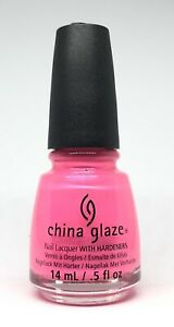 China Glaze Nail Polish Love's A Beach 1083 Hot Coral Pink Neon Lacquer