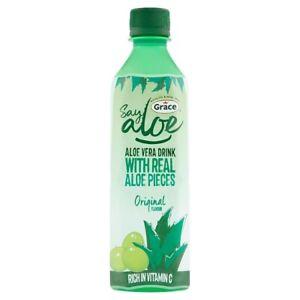 24 x Grace Say Aloe Vera Drink Original Flavour 500ml Pop FREE DELIVERY