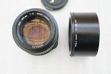 Minolta MD 85mm F/2 Lens with original hood and caps - EXCELLENT