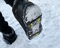 [FAST SHIPPING] Ice Grips - Crampons, Black Traction Cleats, Slip/Ice Resistant