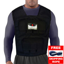 MORGAN 15kg WEIGHTED VEST - RUGBY CROSSFIT WEIGHT MMA UFC GYM FITNESS