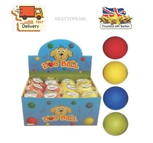"4 x Rubber Dog Balls Play n Shoot Tough Rubber Ball Chew Toy Hard 63 mm 2.5"""