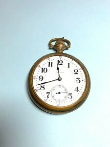Antique *Working* 1901 Waltham Pocket Watch / Gold Plated Case 18s 21j *SEE DESC