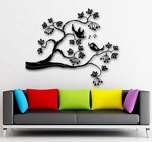 Wall Stickers Vinyl Decal Bird Tree Branch Nature Living Room Decor (ig1786)