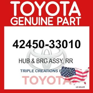 GENUINE Toyota 42450-33010 HUB & BEARING ASSY, REAR AXLE, RH/LH 4245033010 OEM