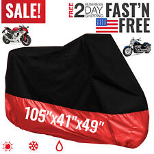 Motorcycle Cover Bike Waterproof For Harley Davidson Outdoor Rain Dust Large
