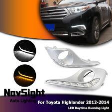 NOVSIGHT LED Daytime Running Light DRL Fog Lamp For Toyota Highlander 2012-2014