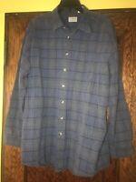 LL Bean Men's Long Sleeve Plaid Button Down Casual Shirt Blue Size XL Tall