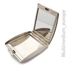 Art Deco Silber Pillendose Puderdose Spiegel silver pill box mirror 🌺🌺🌺🌺🌺