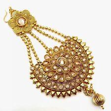 Indian Asian Bridal Jewellery Bollywood Party Ethnic Wear Polki Jhumer Pasa Head