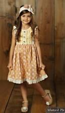 NWT Girl Mustard Pie Sweet Pea Dylan Dress Yellow Pink Multi sz 3T