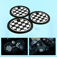 Chess Race Anti-Slip Checkered Cup Mat Pad For Mini R55 R56 R57 R58 R59
