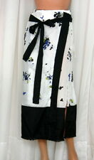 Proenza Schouler Cover-Up Pareo Decorative Floral Print White Size Small