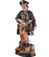 Statue Skulptur Der Postbote CM 15 IN Holz Der IN Gröden Dekoriert Hand