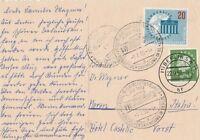 Wunderschöne Ansichtskarte Funkturm Berlin verschickt nach Meran 1959