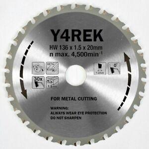 Genuine Y4REK 136mm x 20mm x 30T METAL CUT SAW BLADE Replica Makita B-10615