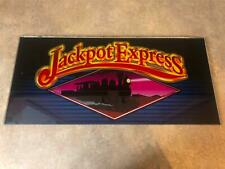 Bally? IGT? WMS? Jackpot Express Slot Machine Glass FAST FREE SHIPPING!!!(X-8)