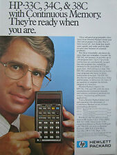 8/1980 PUB HP HEWLETT PACKARD HP CALCULATOR HP-33C 34C CALCULATRICE ORIGINAL AD