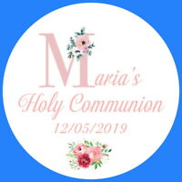 PERSONALISED 1ST HOLY COMMUNION CONFIRMATION GLOSS BAG PARTY SWEET CONE STICKERS