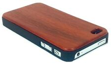 IPHONE 4/4S ROSE WOOD CASE GENUINE REAL WOOD HARD BACK SLIM LUXURY COVER