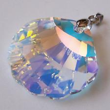 Anhänger mit großer Swarovski® Kristall Muschel 28mm Crystal Aurora Boreale