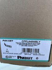 10 Panduit Angled 48-Port Patch Panel, Black CPPLA48WBLY