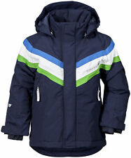 Didriksons Safsen Kids Boys Girls Winter Ski Jacket Waterproof and Insulated 130cm Navy