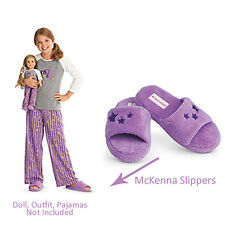 American Girl CL LE McKENNA SLIPPERS SIZE XL (7 1/2-9) for Girls/women Purple