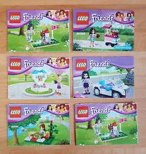 Lego Bauanleitung Friends 30103 30203 30108 30306 30204 ohne Steine B C/G