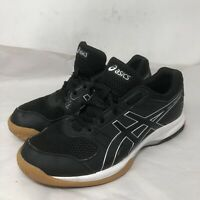 Asics Womens Gel Rocket 8 B756Y Black White Running Shoes Lace Up Low Top Sz 9.5