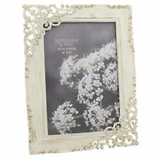 Vintage Style Ornate Cream Metal Photo Frame New Boxed 64846