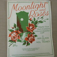 Canción Hoja Moonlight And Roses, Ben Negro, Neil Moret, Lemare andantino