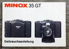 Manuale di istruzioni fotocamera Minox 35 GT 35gt user manual istruzioni (x8065