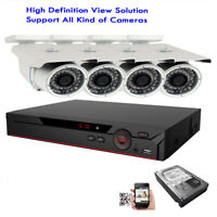 4Ch 6MP DVR 1080P 4-in-1 AHD 2.6MP Outdoor 72IR P)(* Security Camera System
