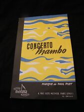 Partition Concerto Mambo Piot La muneca  Music Sheet