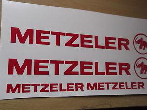 Metzeler Cut Vinyl Decal Sticker x2