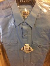 Ely Cattleman Men's Western Shirt Long Sleeve Blue 15201905-82