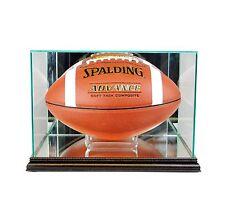 New F/S Glass Rectangle Football Display Case UV NFL Black  Molding FREE SHIPPIN