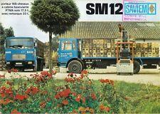 Saviem SM 12 Truck 1968-69 French Market Foldout Sales Brochure