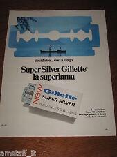 AF25=1968=GILLETTE SUPER SILVER LAMA BARBA=PUBBLICITA'=ADVERTISING=WERBUNG=