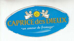 Etiquette de fromage carton caprice des Dieux