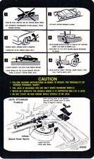 76 77 78 FIREBIRD JACK INSTRUCTION-(SPACE SAVER SPARE)