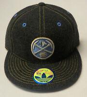 NBA Denver Nuggets Adidas Flat Brim Fitted Cap Hat NEW!