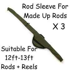 New Carp Pike Coarse Fishing Tackle Made up Rod Sleeve Bag Holdall x 3