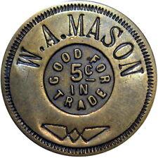 1949 Carnarvon Iowa Good For Token W A Mason
