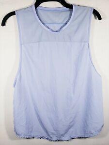 Women's IFG Corp Active Top Size L Light Purple Sleeveless Mesh Collar Detail